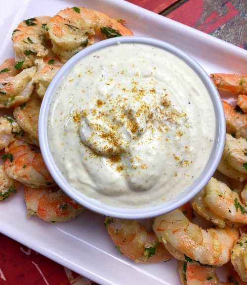 Parmesan Garlic Shrimp and Dipping Sauce