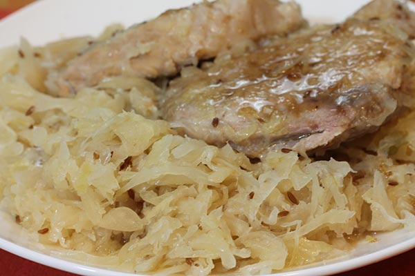 crockpot pork chops sauerkraut and brown sugar