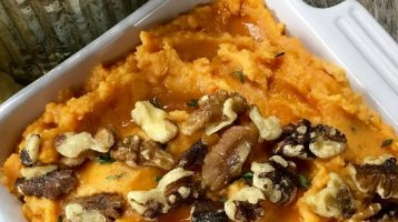 Savory Mashed Sweet Potatoes For The Holidays