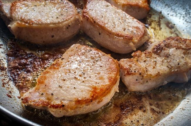 brown pork chops