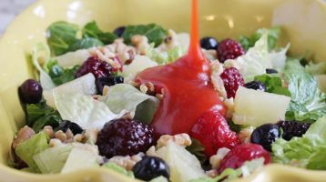 Tossed Salad with Fruits and Nuts