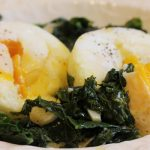 Poached Eggs with Garlicky Kale