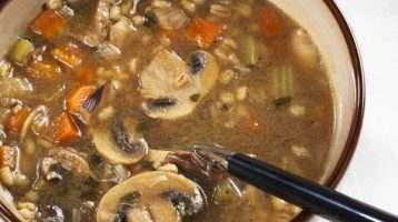 Mushroom Barley Soup Vegan