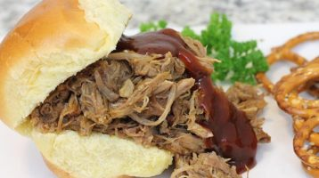 Pulled Pork BBQ Sandwiches Made in the Crockpot