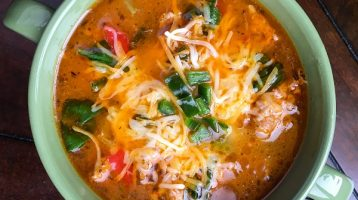 Sausage Soup with Spinach