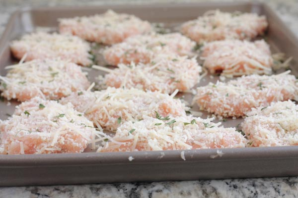 Chicken Nuggets ready to bake in the oven