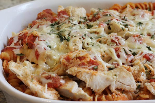 Chicken Parmesan Casserole Baked in the Oven
