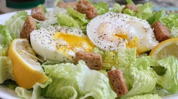 Ceasar Salad with Poached Egg