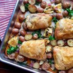 Sheet Pan Roasted Chicken with Potatoes and Kale