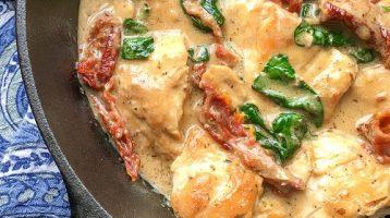 Chicken with Parmesan Cream Sauce