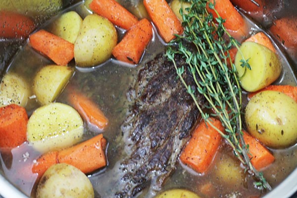 Instant Pot Beef Roast with potatoes and carrots