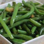 green beans cooked with garlic and ginger