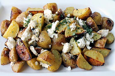 healthy potatoes with feta cheese