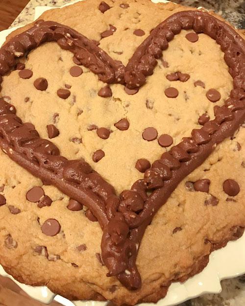 Homemade Chocolate Chip Cookie Cake
