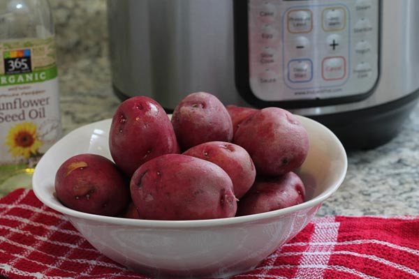 Red Potatoes Washed and Dried