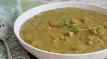 Instant Pot Split Pea Soup in a Bowl