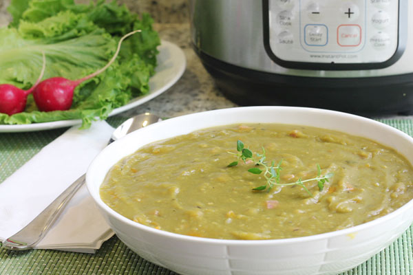 Bowl of Instant Pot Split Pea Soup