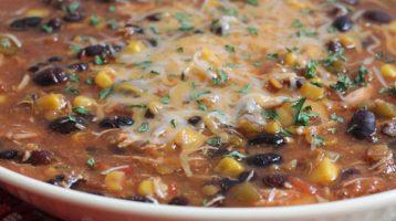 bowl of Chicken Tortilla Soup