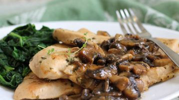 low carb chicken marsala on a plate
