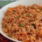 skillet with Mexican minute rice