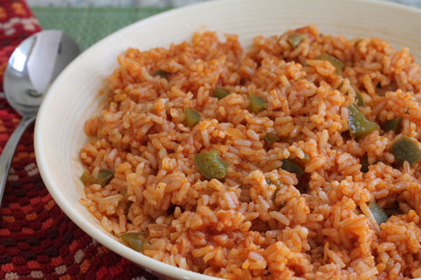 Dish of Minute Rice Mexican Rice