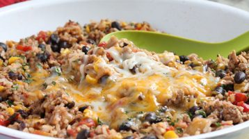 Ground Turkey Skillet Southwest Burritos