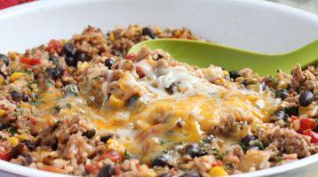 Ground Turkey Skillet Southwest Burritos