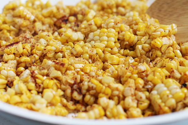 easy pan roasted corn