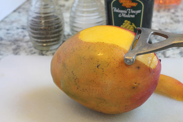 fresh mango peeled and sliced