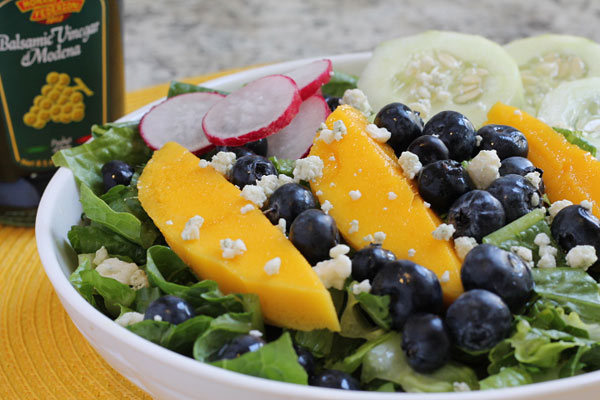 Healthy Tossed Salad Tossed Salad with Mango Blueberries and Cucumber