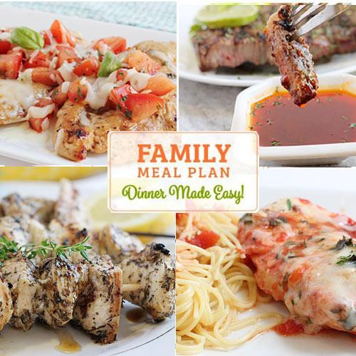 Weekly Menu Planner - Sample Dinner Menus