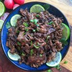 shredded Mexican Beef on a Platter