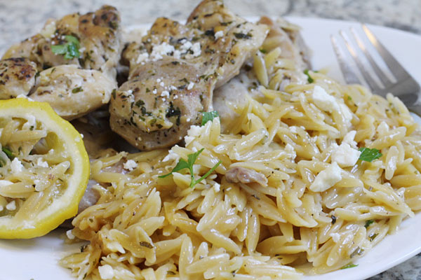 greek chicken thighs with lemon and feta
