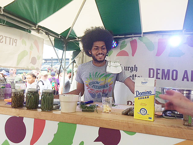 live demonstrations at Picklesburgh