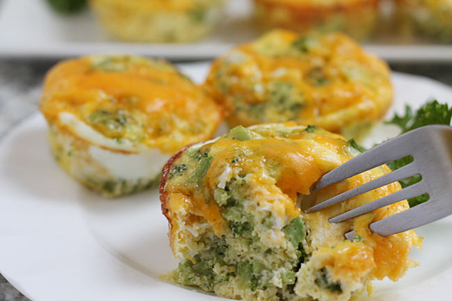 egg broccoli cheese muffin