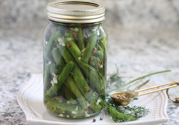 jar of dilly beans