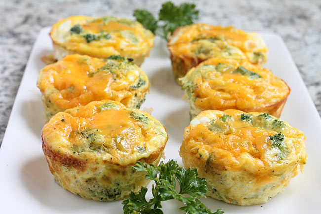 broccoli egg and cheese muffins