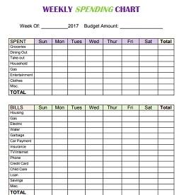 weekly budget sheet