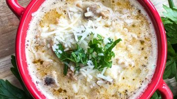 Ground Turkey Mushroom Soup