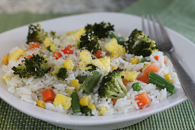 broccoli with rice and vegetables