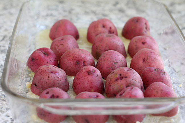 Red Potatoes with butter and Parmesan