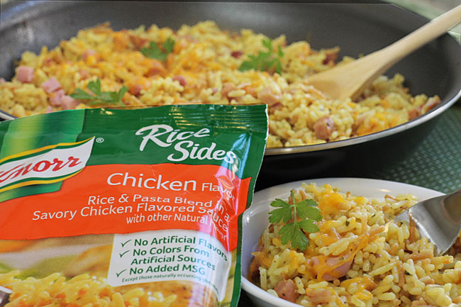 Easy Skillet Ham And Rice Dinner With Cheese Side Dish With Knorr
