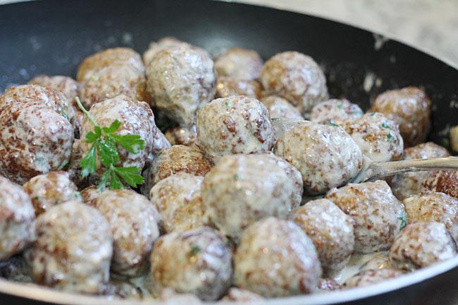 Swedish Meatballs in a dish