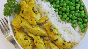 Yogurt and Curry Marinated Chicken