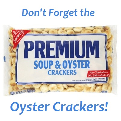 Oyster Crackers for the Clam Chowder