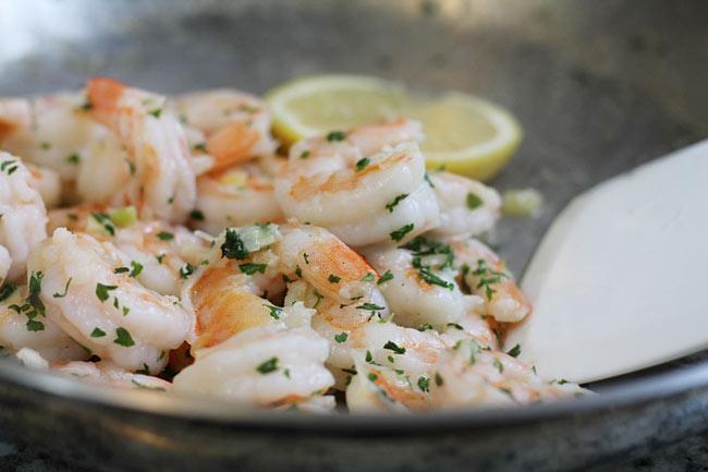shrimp scampi for salad