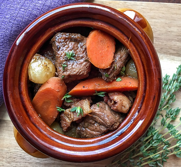 Dutch Oven Beef Stew with Red Wine