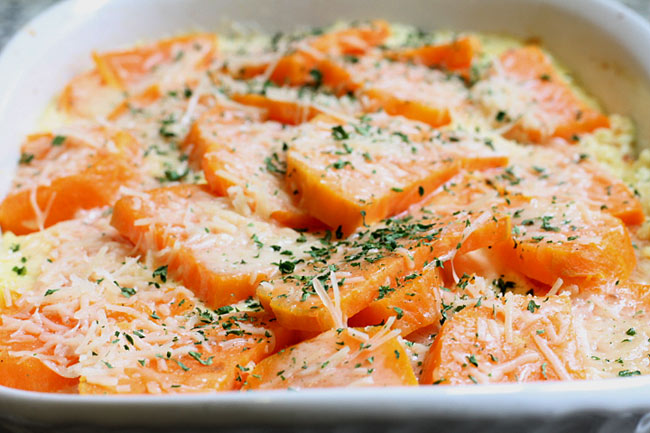 sweet potatoes in cream