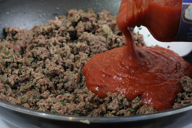 Ground Beef with Pasta Sauce