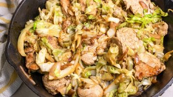 pork and cabbage skillet